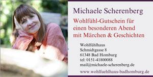 Märchenhafter Gutschein für einen Märchenabend bei Michaele Scherenberg, Frankfurt